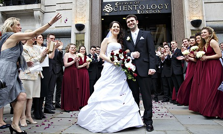 Couple in UK's first Scientology church wedding